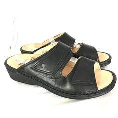 3f3342f3517a Finn Comfort Soft Jamaica Black Nappa Sandals Shoes 39 D Worn Once