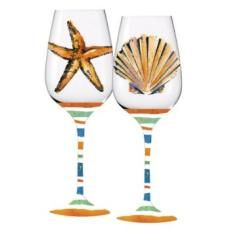SET OF 4 Tommy Bahama Indoor//Outdoor Palm Trees ACRYLIC Wine Glasses