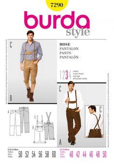 Burda Style B7290 Pants Sewing Pattern