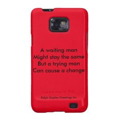 A trying man motivational galaxy SII cover by ralph staples greetings inc-the words you like are the words we write