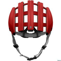 Casco Carrera Plegable Rojo