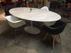 Saarinen Inspired Oval Marble Dining Table | Dining Table | Old Bones Furniture Company