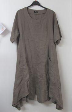 Lagenlook MB Germany Linen Tunic Dress Mocha