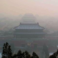 Forbidden city - it really looked like this for me because of the clouds and fog.