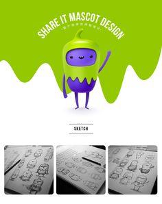 Share it mascot design on Behance