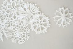 DIY Holiday Snowflakes, by The Pink Couch