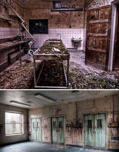 Abandoned Morgue  Military Hospital, Cambridge, England.