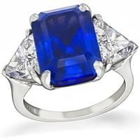 Estate 8.34ct Natural Sapphire 2.28ct Diamond Engagement Ring
