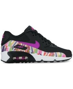 the latest f7cde 49dd8 Nike Big Girls  Air Max Thea Print Running Sneakers from Finish Line    Reviews - Finish Line Athletic Shoes - Kids - Macy s