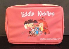 Vintage Liddle Kiddle Pink Coral Little Carry Case Bunson Burnie Calamity Jiddle #Mattel #StorageCase