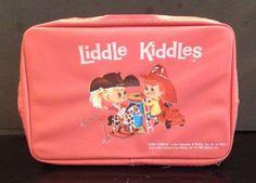 Vintage Liddle Kiddle Pink Coral Little Carry Case Bunson Burnie Calamity Jiddle #Mattel #StorageCase