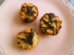 Coconut Macaroons made with stevia, honey, coconut, egg whites, vanilla and coconut oil.