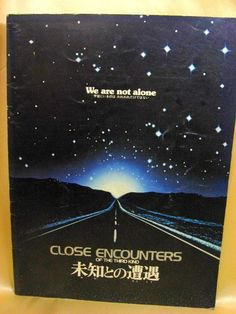 Movie Program Japan- CLOSE ENCOUNTERS /1978/ Steven Spielberg, RICHARD DREYFUSS