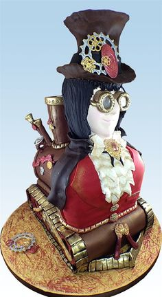 """""""Full Steam Ahead"""" Extraordinary Steampunk Cake by Susan Carberry"""