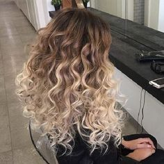 curly color fade