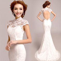Chinese white wedding dresses