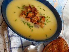 Krémová česnečka s krutónky Thai Red Curry, Cantaloupe, Fruit, Ethnic Recipes, Food, Essen, Meals, Yemek, Eten