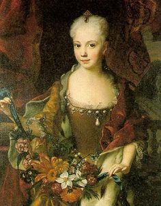 1727 Maria Anna of Austria, sister of Maria Theresia by Andreas Moller (Schloß Schönbrunn)