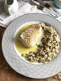 Cabillaud basse température et sa sauce au beurre blanc citronnée - Graine de faim kely