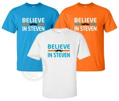 """""""Believe In Steven"""" T-Shirt Okc Oklahoma City Thunder Steven Adams Mustache Oklahoma City Thunder, Mustache, Believe, Trending Outfits, Cotton, T Shirt, Tops, Colors, Products"""