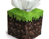 Minecraft inspired Grass Cube Tissue Box Cover. $18.00, via Etsy.