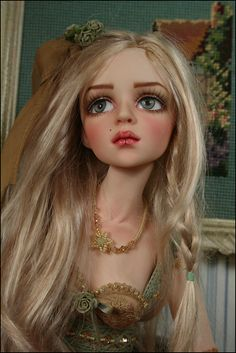 Another one of Dale Zentner's beautiful ball-jointed dolls