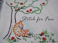 Basic hand embroidery stitch