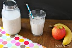 Homemade organic almond milk