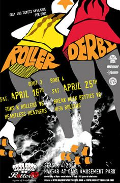 Rose City Rollers April '09 Poster | Flickr - Photo Sharing!