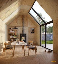 comedor rústico con muebles de madera