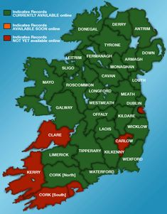 Birth Death Marriage Genealogy Records Ireland - Irish Family History Foundation