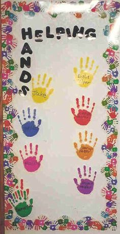 helping hands bulletin board - Google Search