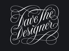Dave Foster #tipografia #lettering #grafica