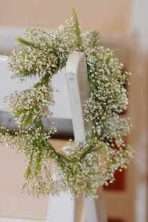 Simple baby's breath wreaths