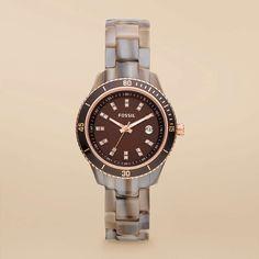 stella mini resin watch. fossil $105