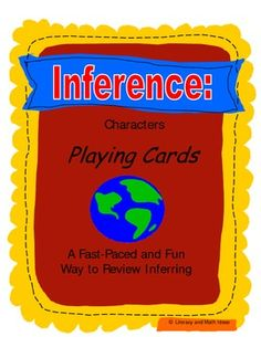 {INFERENCE GAME CARDS} In state assessments, students are asked to infer what a character is like based on what they say, their gestures, and how they interact with other characters.  Many students have difficulty with these inferences.  This game teaches students how to analyze and infer by playing a fun game.  The passages mirror the writing techniques used by writers in novels and assessments to give students authentic inference practice.  Plus, it includes an easy-fold box!