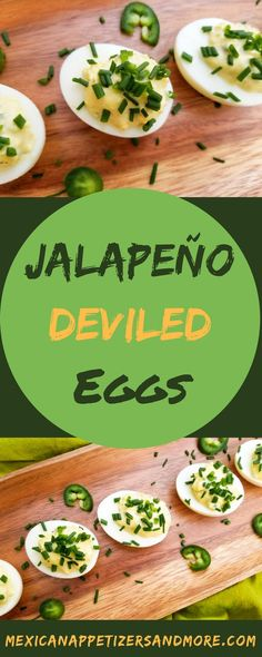 Jalapeño Deviled Eggs Mexican Appetizers & More Recipes Spicy Recipes, Gourmet Recipes, Mexican Food Recipes, Vegetarian Recipes, Ethnic Recipes, Mini Appetizers, Appetizer Recipes, Appetizer Party, Mexican Appetizers