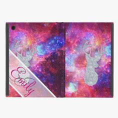 Love it! This Monogram Nebula Glitter Deer Head Pink Space iPad Mini Case is completely customizable and ready to be personalized or purchased as is. It's a perfect gift for you or your friends.