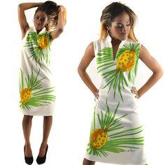 Vintage Vera Neumann Mod Pineapple Ladybug Mini Tunic Dress