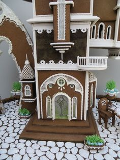 Dream House This gingerbread house was inspired by the magical architectural designs of Daniel Merriam (High Altitude, Land's End...