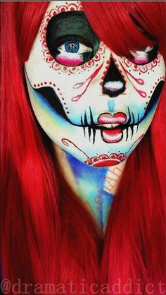 Sugar Skull Makeup Tutorial - Glam Express | Can't wait for Dia De Los Muertos? Follow our board --> http://www.pinterest.com/thevioletvixen/sugar-skull-women/