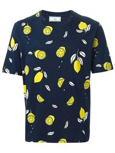 t-shirt à citrons all-over