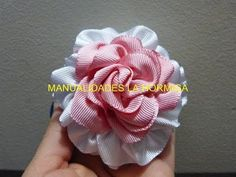 flores para el cabello en cinta paso a paso . video No.213 Manualidades y accesorios - YouTube