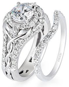 Parade Design Lyria Collection - Bridal Design R2122 Engagement Ring and Parade Design Lyria Collection - Bridal Design R2122 Wedding Ring  To die for