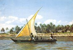 Native Sail Boat Kenya 1974