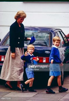 News Photo : Diana The Princess of Wales with Prince Harry as...
