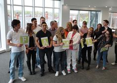 Staff at Danbro show their support for Operation Danbro that is doing vital relief work in earthquake-ravaged Nepal