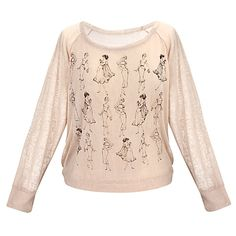 Disney Princess Vintage Fashion Long Sleeve Raglan Tee