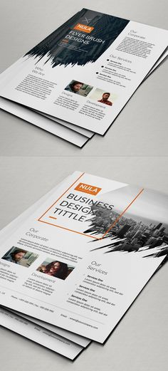 City skyline negative instead of brush line Brush Corporate Flyer Template Flyer Layout, Brochure Layout, Poster Design, Print Design, Graphic Design Brochure, Leaflet Design, Portfolio Design, Portfolio Pdf, Creative Flyers