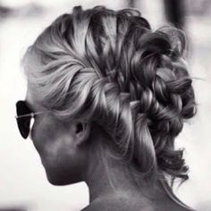 Braids | Loose Updo #twist #hairstyles #messy #blonde #ideas #pmtslombard #paul #mitchell #schools